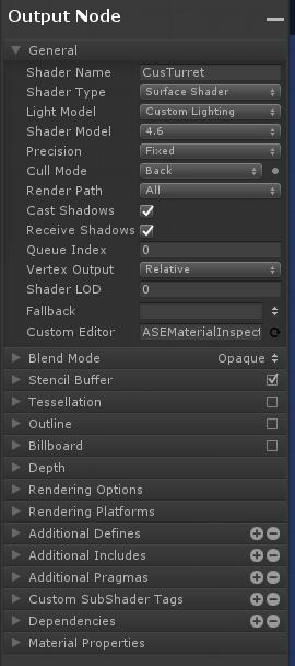 Amplify Shader Editor插件左侧栏参数指南  Mageek's